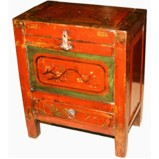 Antique Mongolian Chest with Drawer