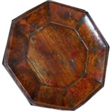 Brown Painted Wood Plate