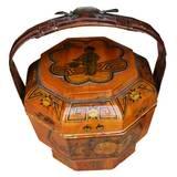 Gold Painted Food Basket
