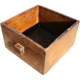 Antique Wood Rice Bucket