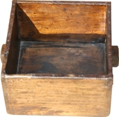 Antique Wood Rice Bucket