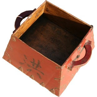 Antique Red Rice Bucket