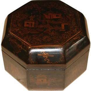 Octagon Black Painted Box