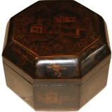 Octagon Black Painted Box