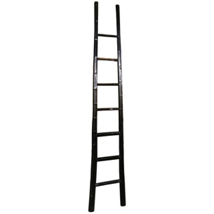 Black Lacquer Bamboo Ladder