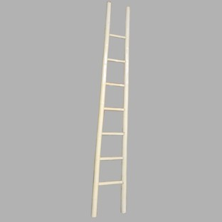 White Lacquer Bamboo Ladder