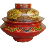 Red Tibetan Tsampa Box