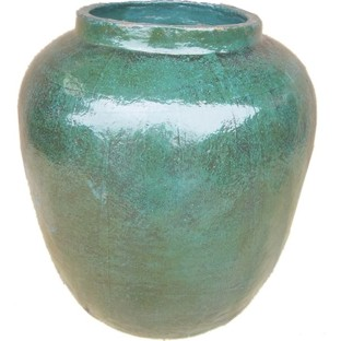 Large Turquoise Decorative Barrel