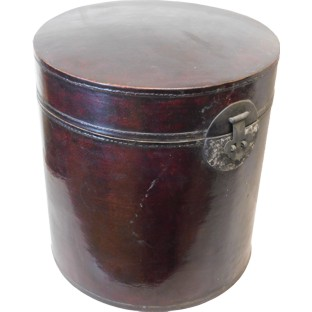 Original Round Maroon Decoration Box