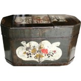 Large Chinese Storage Wood Box with Lid