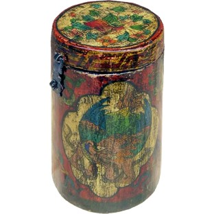 Original Tibetan Wood Tea Container