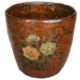 Chinese Vintage Decorative Barrel with Painting