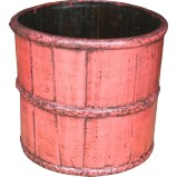 Pink Antique Chinese Rice Bucket