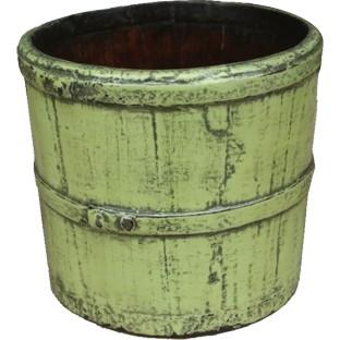 Green Antique Rice Bucket
