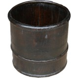 Antique Chinese Brown Rice Bucket