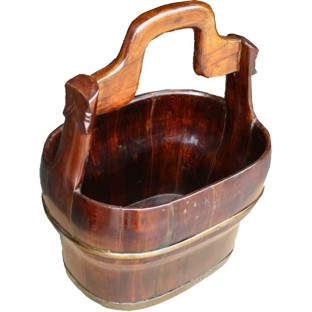 Antique Wood Water Carrier