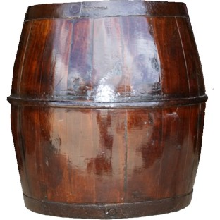 Antique Brown Water Storage Bucket