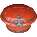 Red Lacquered Container Wood Box