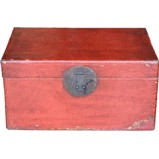 Antique Red Leather Box