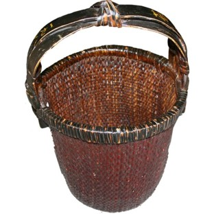 Antique Rattan Carrying Basket