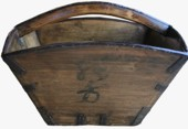 Antique Large Brown Rice Measure