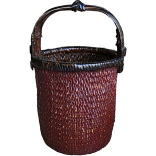 Antique Rattan Carrying Basket