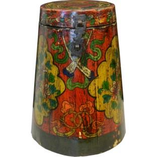Original Tibetan Wood Tea Container