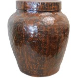Brown Decor Ginger Jar with Lid