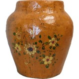 Yellow Flora Painted Ginger Jar
