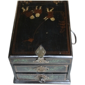 Original Wood Painted Jewellery Box