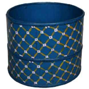 Blue Chinese Wood Bucket