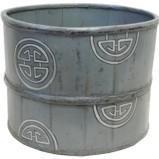 Grey Chinese Wood Bucket Medium