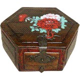 Chinese Painted Treasure Wood Box