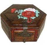 Chinese Painted Treasure Wood Box