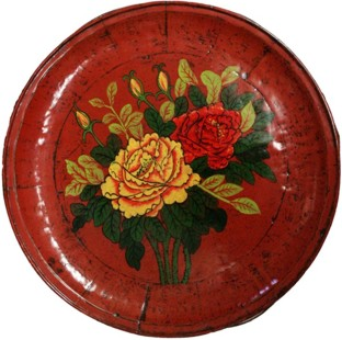 Chinese Round Flora Painted Plate