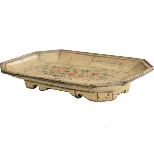 Original Creamy Flora Painted Tray