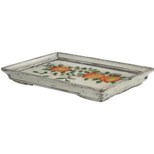 Original Rectangular Flora Painted Tray