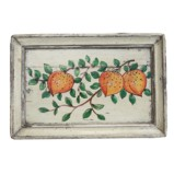 Original Rectangular Flora Painted Tray