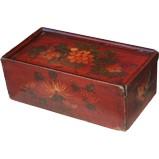 Original Red Painted Wood Box