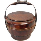Antiqe Wood Basket with Handle