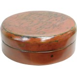 Red Lacquer Round Food Box