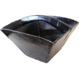 Black Lacquer Grain Basket