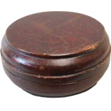 Antique Brown Lacquer Box