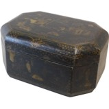 Antique Black Lacquer Box