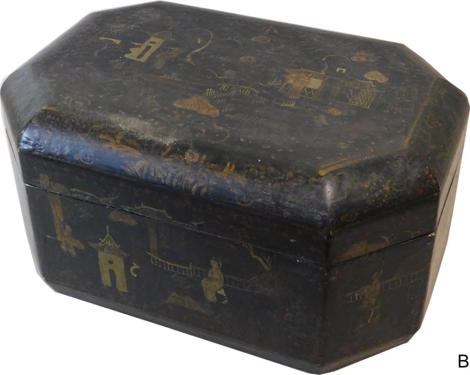 Chinese Lacquer Box Black Original