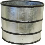 Silver Leaf Decoration Wood Bucket