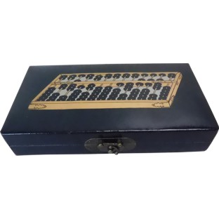 Chinese Abacus in Black Painted Box