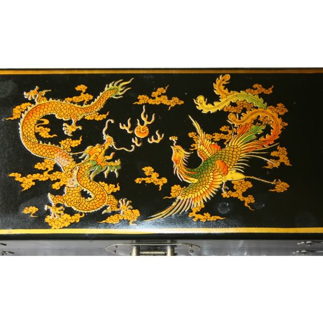 Chinese Abacus in Black Leather Box - Detail