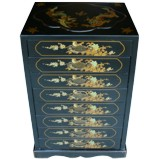 Chinese Black Filing Cabinet - Dragon Phoenix