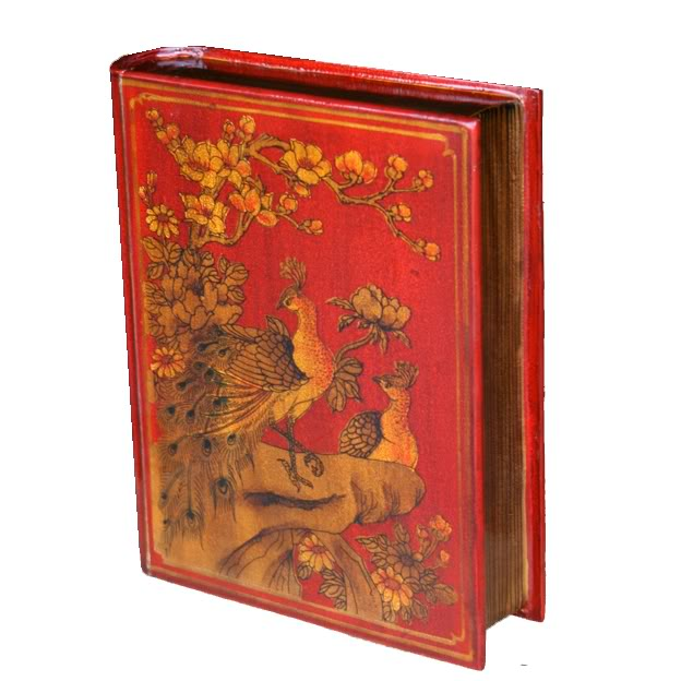 Red A4 Size Bookshape Jewellery Box - Open Style - Stand View